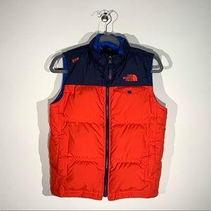 {The North Face} Boys 550 Puffer Vest Sz M 10/12